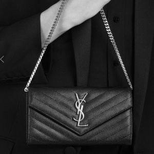 Ysl wallet on a chain very nice condition